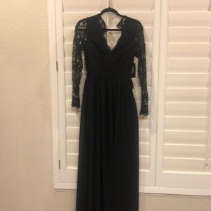 Black Lace Maxi Lulu's Dress Size S NWT
